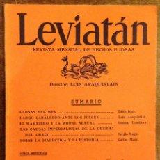 Libros antiguos: LEVIATAN - ARAQUISTAIN LUIS.NÚMERO 20. ENERO 1936. Lote 55162496
