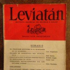 Libros antiguos: LEVIATAN - ARAQUISTAIN LUIS.NÚMERO 13 MAYO 1935.. Lote 55162513