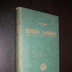 Libros antiguos: ESTUDIOS FILOSOFICOS / A. NICOLAS / 1901 / SEXTA EDICION / TOMO III. Lote 55821077