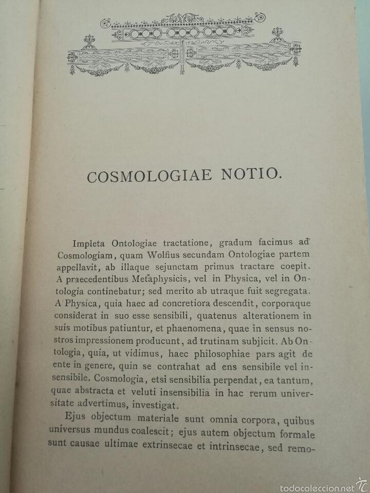 Libros antiguos: CURSUS PHILOSOPHICUS - GABRIELE CASANOVA - VOL. 1 Y 2 - 1894 - Foto 7 - 56042954