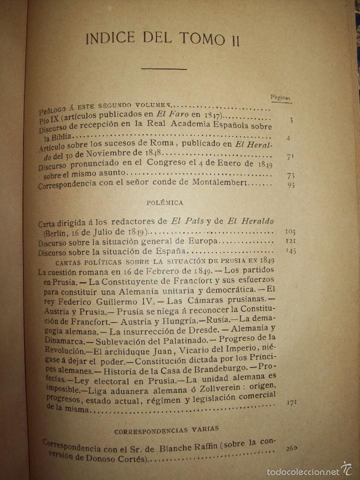 Libros antiguos: Obras de Don Juan Donoso Cortés : Nueva edición aumentada... VOLUMEN II - Foto 2 - 48898630