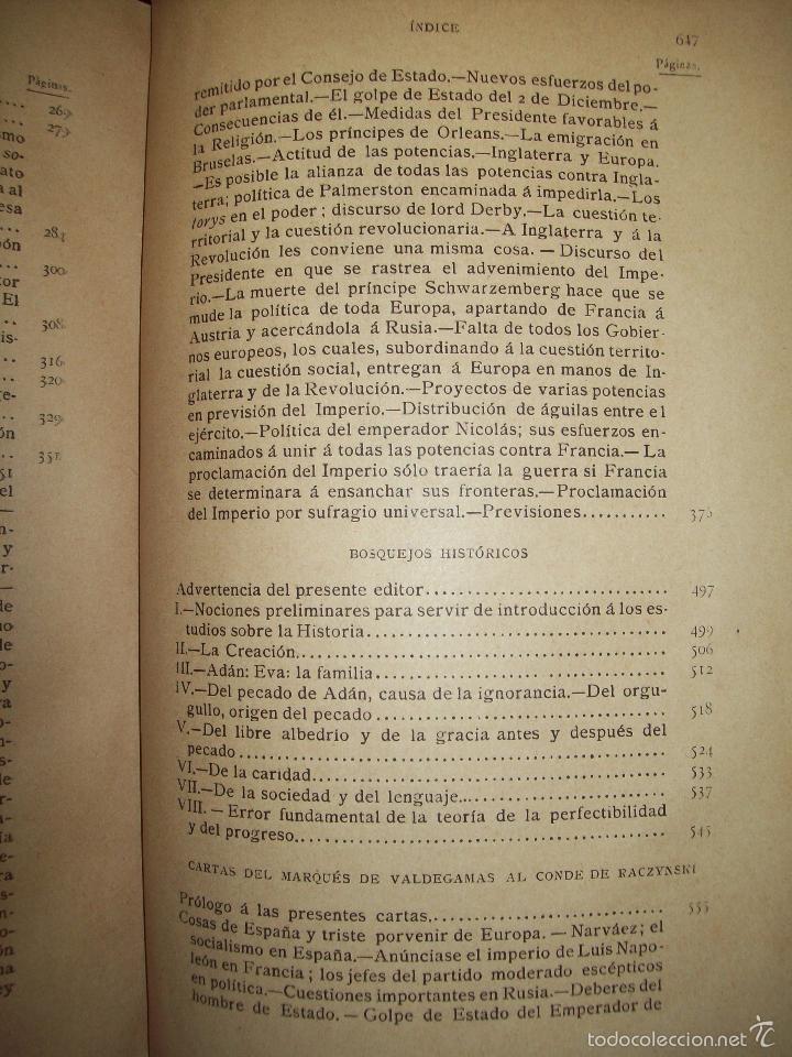 Libros antiguos: Obras de Don Juan Donoso Cortés : Nueva edición aumentada... VOLUMEN II - Foto 4 - 48898630