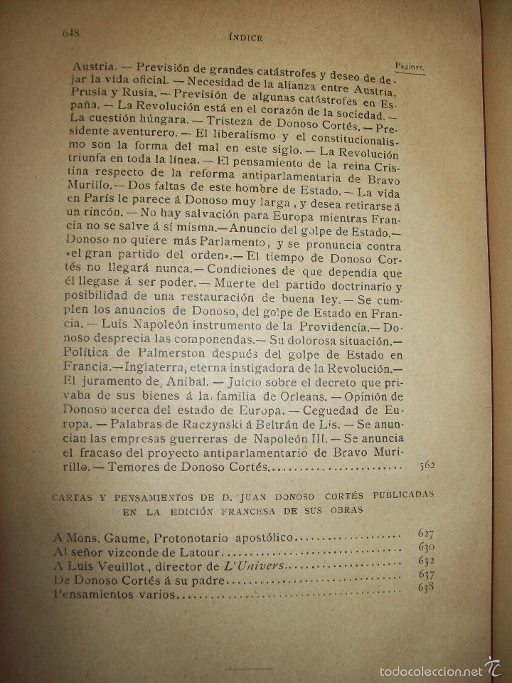 Libros antiguos: Obras de Don Juan Donoso Cortés : Nueva edición aumentada... VOLUMEN II - Foto 5 - 48898630
