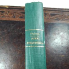 Libros antiguos: SUMMA PHILOSOPHICA IN USUM SCHOLARUM AUCTORE F. THOMAS MARIA ZIGLIARA - VOLUMEN I - PARIS - 1919 -. Lote 56305860