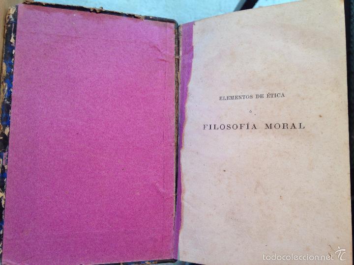 Libros antiguos: ELEMENTOS DE ETICA O FILOSOFIA MORAL - .GONZÁLEZ SERRANO, M. DE LA REVILLA - 1874 - Foto 2 - 56525709