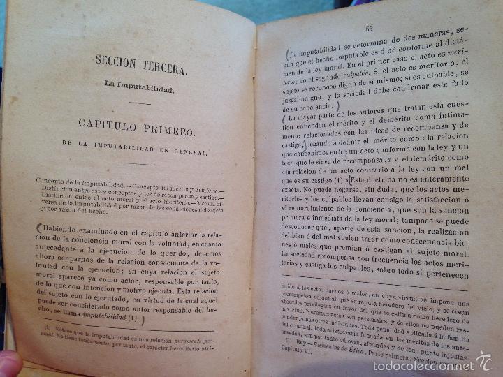 Libros antiguos: ELEMENTOS DE ETICA O FILOSOFIA MORAL - .GONZÁLEZ SERRANO, M. DE LA REVILLA - 1874 - Foto 4 - 56525709