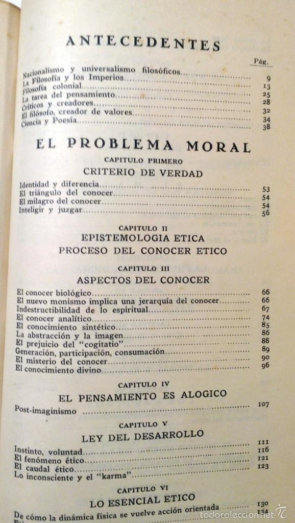 Libros antiguos: ETICA - VASCONCELOS EDITORIAL AGUILAR AÑO 1932 - Foto 4 - 56665707