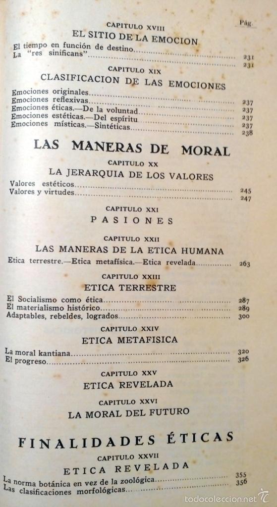 Libros antiguos: ETICA - VASCONCELOS EDITORIAL AGUILAR AÑO 1932 - Foto 6 - 56665707