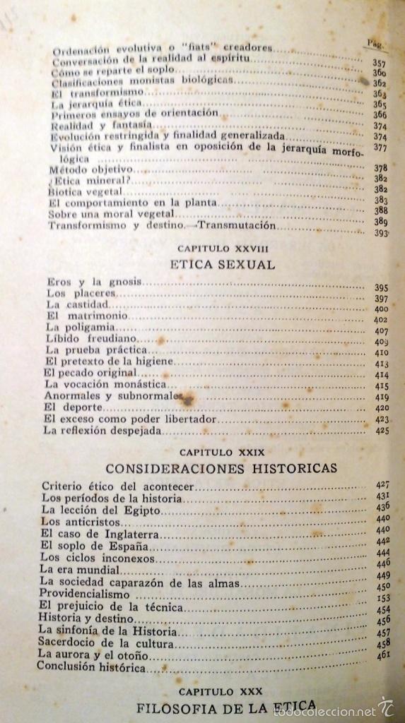 Libros antiguos: ETICA - VASCONCELOS EDITORIAL AGUILAR AÑO 1932 - Foto 7 - 56665707