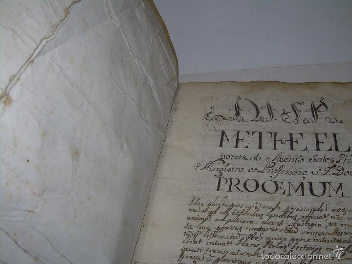 Libros antiguos: IMPORTANTISIMO LIBRO TAPAS DE PERGAMINO....MANUSCRITO.....METAFISICA. - Foto 3 - 56745651
