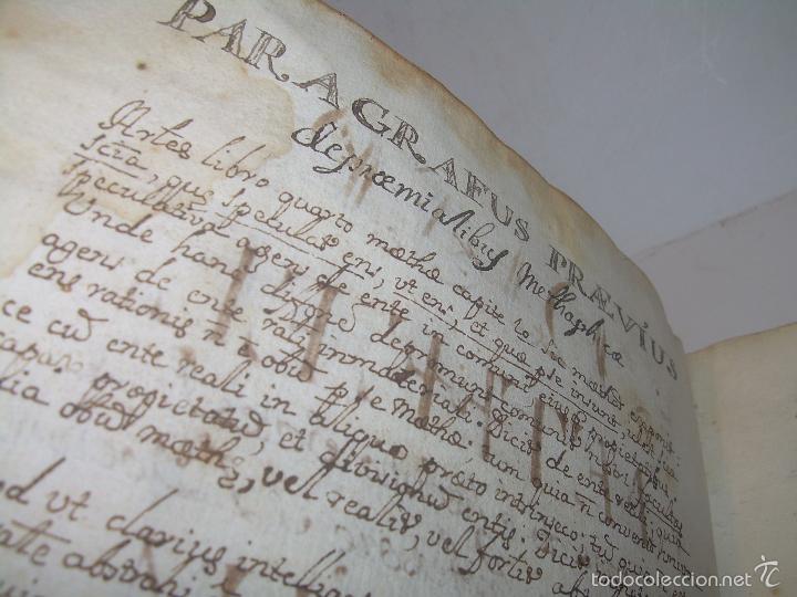 Libros antiguos: IMPORTANTISIMO LIBRO TAPAS DE PERGAMINO....MANUSCRITO.....METAFISICA. - Foto 5 - 56745651