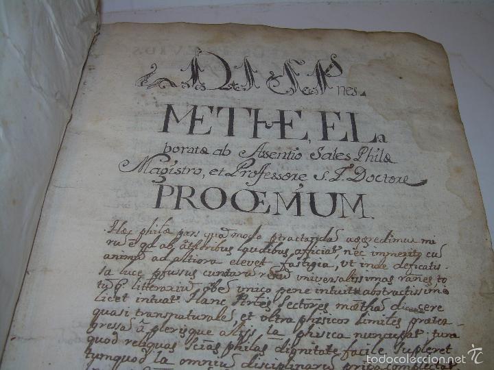 Libros antiguos: IMPORTANTISIMO LIBRO TAPAS DE PERGAMINO....MANUSCRITO.....METAFISICA. - Foto 6 - 56745651