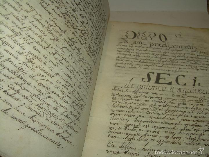 Libros antiguos: IMPORTANTISIMO LIBRO TAPAS DE PERGAMINO....MANUSCRITO.....METAFISICA. - Foto 7 - 56745651