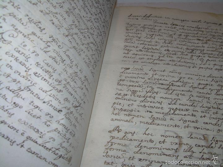 Libros antiguos: IMPORTANTISIMO LIBRO TAPAS DE PERGAMINO....MANUSCRITO.....METAFISICA. - Foto 8 - 56745651