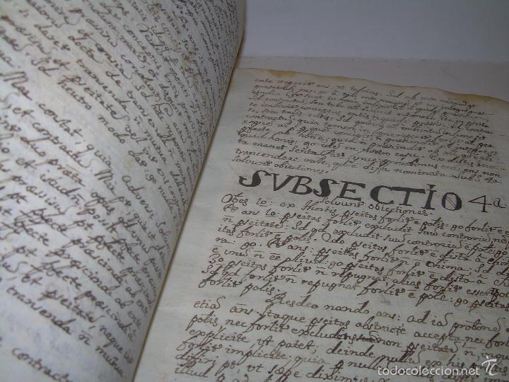 Libros antiguos: IMPORTANTISIMO LIBRO TAPAS DE PERGAMINO....MANUSCRITO.....METAFISICA. - Foto 10 - 56745651