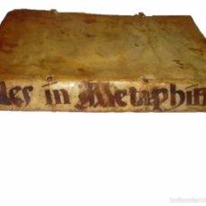 Libros antiguos: IMPORTANTISIMO LIBRO TAPAS DE PERGAMINO....MANUSCRITO.....METAFISICA.. Lote 56745651