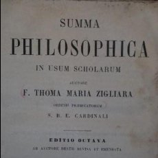Libros antiguos: SUMMA PHILOSOPHICA. VOLUMEN III. ZIGLIARA. 1891.. Lote 56907536