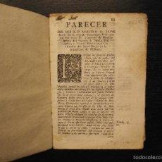 Libros antiguos: RAMON LLULL, PARECER DEL MAESTRO JAIME BATLLE, INQUISIDOR DE MALLORCA, 1750. Lote 57214955
