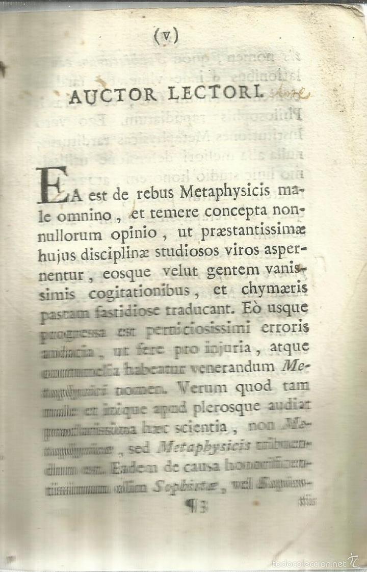 Libros antiguos: INSTITUTIONES PHILOSOPHICAE AD STUDIA THEOLOGICA. FRANCISCO JACQUIER. MATRITI. 1758 - Foto 5 - 58091105