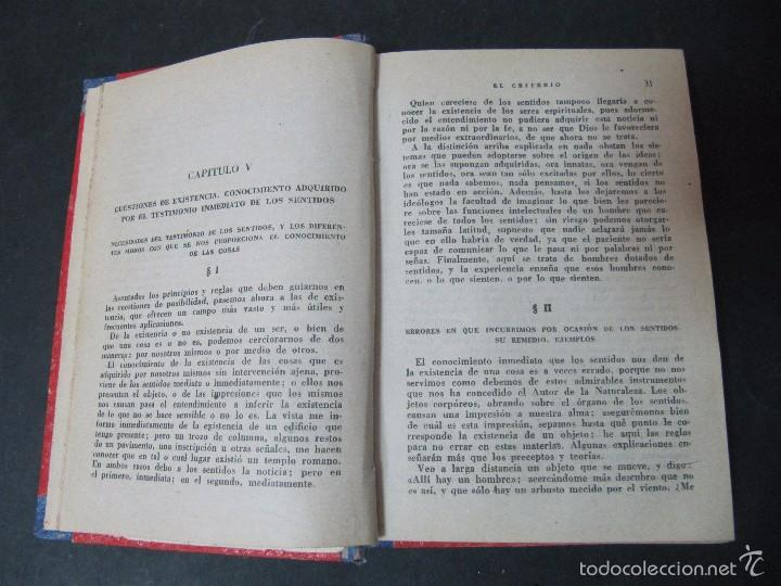 Libros antiguos: LIBRO JAIME BALMES EL CRITERIO SEGUIDO DE LA HISTORIA DE LA FILOSOFIA TAPA DURA ED IBERICAS 444 PAGS - Foto 2 - 232536985
