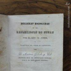Libros antiguos: BELLEZAS ESCOGIDAS DE LAS REFLEXIONES DE STURM.JONES, REV. W.. Lote 58265246