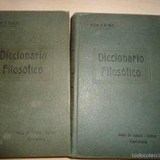 Libros antiguos: VOLTAIRE DICCIONARIO FILOSÓFICO 1922 2 TOMOS. Lote 58383615
