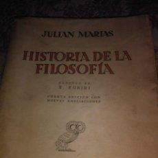 Libros antiguos: HISTORIA DE LA FILOSOFIA. Lote 59511563