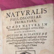 Libros antiguos: NATURALIS PHILOSOPHIAE. IOANNE DE S. THOMA LISBONIENSI. MADRID 1633. Lote 59647215