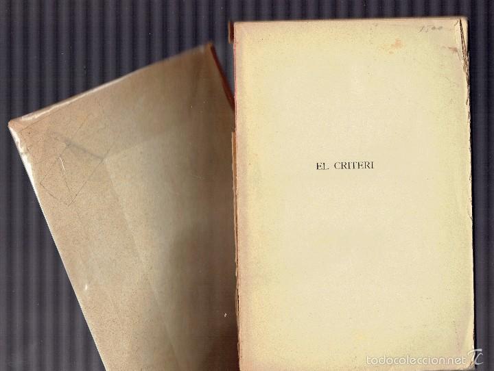Libros antiguos: El criteri - Jaume Balmes - 1911 - Foto 2 - 59792168