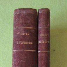 Libros antiguos: PHILOSOPHIE I, II Y III _ JOSEPH FERNÁNDEZ CUEVAS (1861). Lote 62816900
