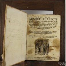 Libros antiguos: 4912- QUAESTIONES MINORIS DIALECTICAE. MICHAEL COMAS E BRUGARIO. TIP. ANTONII LACAUALLERIA 1661.. Lote 43943758