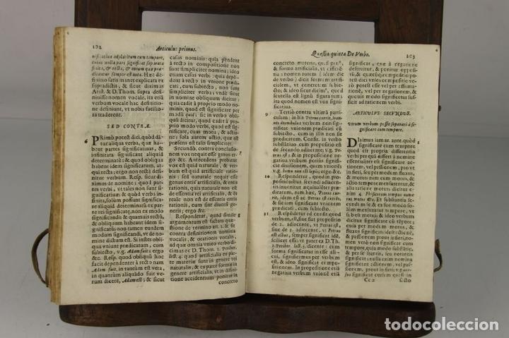 Libros antiguos: 4912- QUAESTIONES MINORIS DIALECTICAE. MICHAEL COMAS E BRUGARIO. TIP. ANTONII LACAUALLERIA 1661. - Foto 2 - 43943758