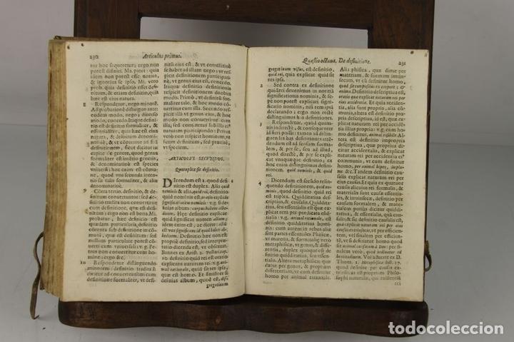 Libros antiguos: 4912- QUAESTIONES MINORIS DIALECTICAE. MICHAEL COMAS E BRUGARIO. TIP. ANTONII LACAUALLERIA 1661. - Foto 4 - 43943758