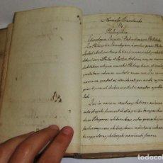Libros antiguos: INTERESANTE LIBRO DE FILOSOFIA. CURSUS PHILOSOPHIAE ELEMENTALIS. 1853. LATÍN. 8 PÁGINAS MANUSCRITAS. Lote 66153414