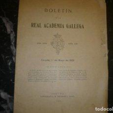 Libros antiguos: BOLETIN REAL ACADEMIA GALLEGA MAYO-1922 CORUÑA AÑO XVII-NUM 145. Lote 72265955