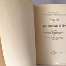 Libros antiguos: ZUBIRI: ENSAYO DE UNA TEORÍA FENOMENOLÓGICA DEL JUICIO. (TESIS DOCTORADO 1923 (ORTEGA Y GASSET. Lote 73610647