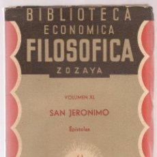 Libros antiguos: SAN JERONIMO , EPISTOLAS ,BIBLIOTECA ECONOMICO FILOSOFICA,1888 . Lote 73691735