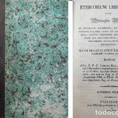 Libros antiguos: RIUS, JOSÉ. ETHICORUM LIBRI OCTO, SIVE PHILOSOPHIA MORALIS. 1830.. Lote 76209119