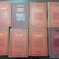Libros antiguos: 8 LIBROS ANTIGUOS DE SAMUEL SMILES. Lote 77065593