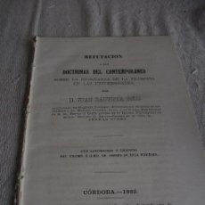 Libros antiguos: REFUTACIÓN A LAS DOCTRINAS DEL CONTEMPORÁNEO SOBRE LA ENSEÑANZA DE LA FILOSOFÍA EN LAS UNIVERSIDADES. Lote 82037592