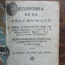 Libros antiguos: ECONOMIA DE LA VIDA HUMANA OBRA COMPUESTA POR UN ANTIGUO BRACMAN... C. 1780. FILOSOFÍA ORIENTAL.. Lote 82752184