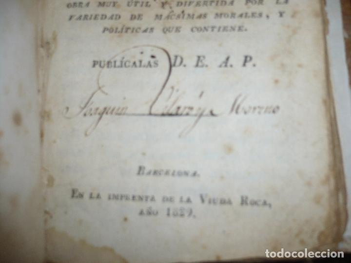 Libros antiguos: AMENIDADES FILOSOFICAS O DISCURSOS D.E.A.P. 1829 BARCELONA IMPR.VIUDA ROCA - Foto 3 - 83493020
