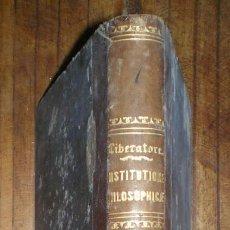 Libros antiguos: INSTITUTIONES PHILOSOPHICAE MATHEI LIBERATORE. VOLUMEN PRIMUM: LOGICA ET METAPHYSICA. 1867. Lote 83816848