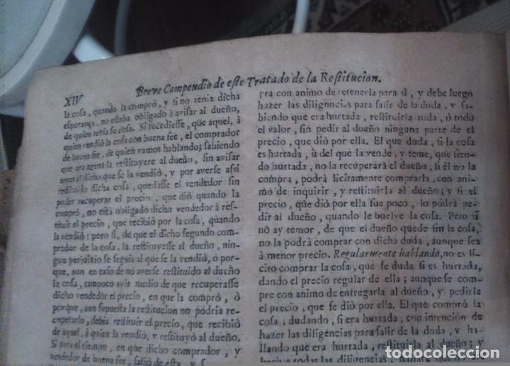 Libros antiguos: Suma de la Theologia moral cuarta parte Francisco Joseph Cintruenigo año 1723 Corella - Foto 6 - 84538204