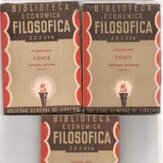 Libros antiguos: COMTE ,CATECISMO POSITIVISTA BIBLIOTECA ECONOMICA FILOSOFICA ZOZAYA ... .NINC. Lote 84636760