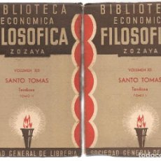 Libros antiguos: SANTO TOMAS ,TEODICEA TOMO I Y II, TRAD JULIAN DE VARGAS, BIBLIOTECA ECONOMICA FILOSOFICA . Lote 84641028