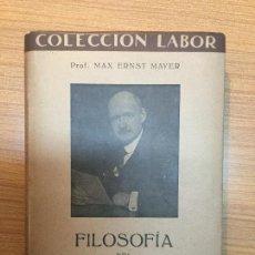 Libros antiguos: FILOSOFÍA DEL DERECHO, MAX ERNST MAYER (1937).. Lote 75297351