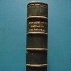 Livros antigos: MANUAL DE FILOSOFIA. AMEDEE JACQUES, JULES SIMON, EMILE SAISSET. 1872. Lote 88329240