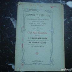 Libros antiguos: SERMON EN ACCION DE GRACIAS POR LAS VICTORIAS Y CONQUISTAS DE MELILLA F.JIMENEZ 1910 MADRID. Lote 89863420