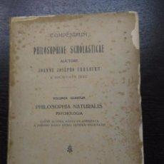 Libros antiguos: PHILOSOPHIAE SCHOLASTICAE, URRABURU, JOANNE JOSEPHO, 1924. Lote 90520995